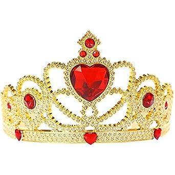 Amazon.com: Red and Gold Princess Child Tiara: Childrens Costume