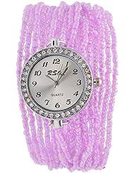 Swadesi Stuff Analog Purple Dial Women's Wrist Watch - ROUND_MOTI_LIGHTPURPLE