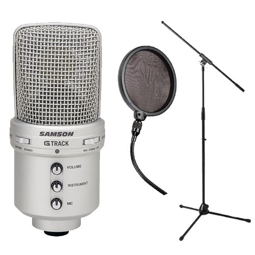 Samson G-Track Usb Condenser Mic & Audio Interface With Pop Filter & Mic Stand