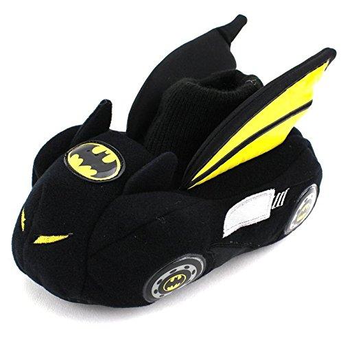 Batman Batmobile Toddler Little Kid Sock Top Slippers (M (7/8) M US Toddler)