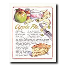 Recipe Homemade Apple Pie Kitchen Home Decor Wall Picture 8x10 Art Print