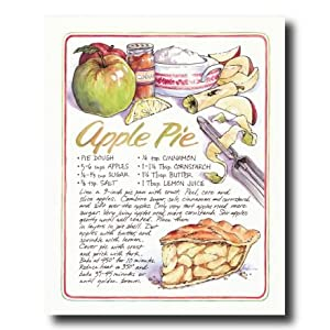 Homemade apple pie recipe kitchen cafe diner for Home decorations amazon