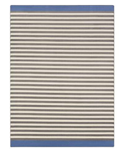 Surya Bambino Rug, Ivory/Charcoal/Cobalt, 7' 8 x 11'