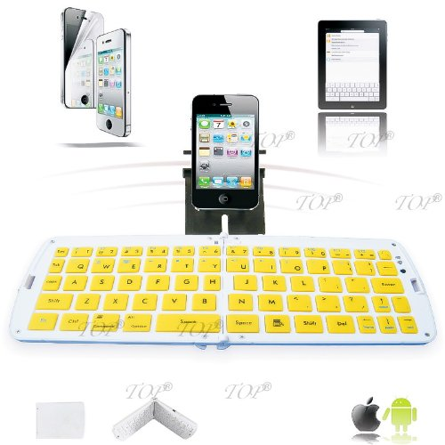 Top® Quality Galaxy S2 Keyboard, Bluetooth Keyboard For Samsung Galaxy Note N8000, Galaxy I9500, S4, Keyboard For Android Tv Box, Bluetooth Keyboard For Samsung Galaxy Tablet 10.1, Galaxy S3 Bluetooth Keyboard In Yellow, 6~10 Days Delivery To Usa!