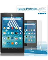 "amFilm Fire HD 8 2015 Screen Protector HD Clear for New Kindle Fire 8"" inch 2015 (5th Generation)(2-Pack) [Lifetime Warranty]"