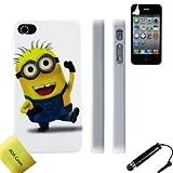 Minion Custodia Case Cover per Apple iPhone 4 4S Funda Incluso Pellicola di Protezione Schermo + Stilo AOA Cases...