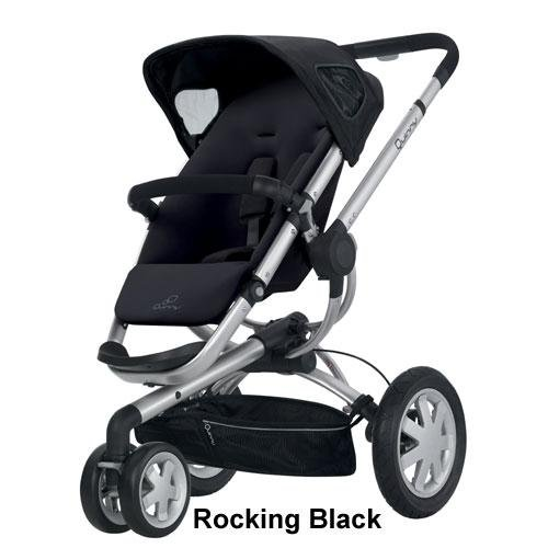 Quinny 2012 Buzz Stroller, Rocking Black front-790555