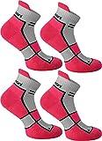 4 Paar Sneaker-Laufsocken mit Frotteesohle und Stützfunktion Farbe Pink Carnation