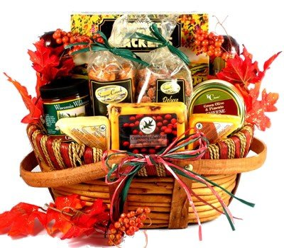 Season's Best Gourmet Meat and Cheese Fall Thanksgiving Gift Basket by Organic Stores