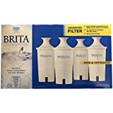 Brita Water Filter Pitcher Advanced Replacement Filters, 4 Count
