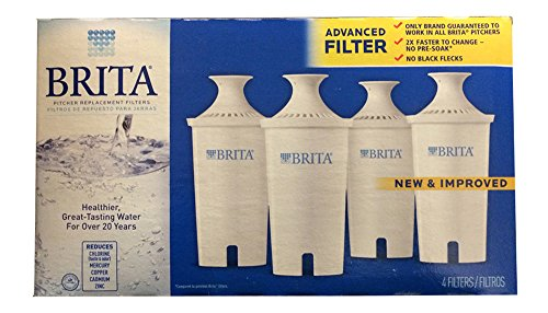 Best Buy! Brita Water Filter Pitcher Advanced Replacement Filters, 4 Count