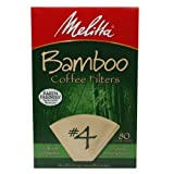Melitta #4 Bamboo Coffee Filters 80 ea