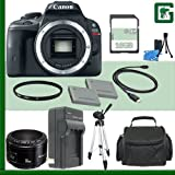 Canon EOS Rebel SL1 Digital SLR Camera and Canon 50mm f 1.8 Lens + 16GB Green's Camera Package 1