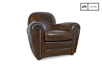 Cigar Club leather retro armchair
