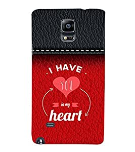 99Sublimation You are in My Heart 3D Hard Polycarbonate Back Case Cover for Samsung Galaxy Note 4 :: N910G :: N910F N910K/N910L/N910S N910C N910FD N910FQ N910H N910G N910U N910W8