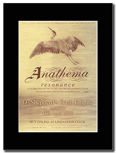 Anathema risonanza-02, Shepherds Bush Empire per sedicesimo aprile 2015 Magazine Promo su un supporto, colore: nero