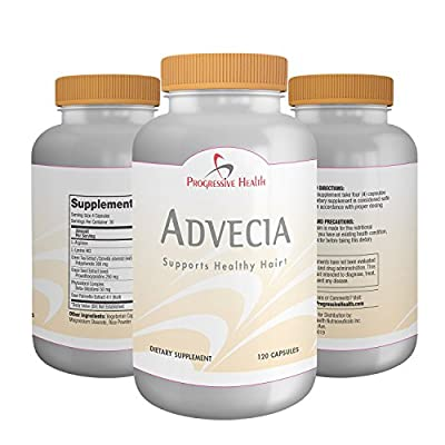 Advecia: Hair Loss Vitamins, DHT Blocker Averts Thining Hair & Baldness For Men and Women. Natural Growth Nutrients Include Saw Palmetto Berries, Green Tea / Grape Tea Extract, Beta Sitosterol