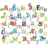 Animal Alphabet Baby Nursery Peel andStick Wall Art Sticker Decals
