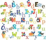 Animal Alphabet Baby Nursery Peel & Stick Wall Art Sticker Decals