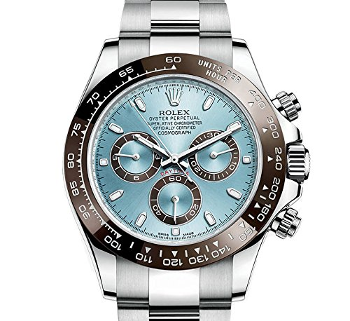 Rolex Cosmograph Daytona Ice Blue Dial Platinum Mens Watch 116506IBLSO