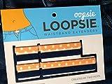 Oopsie Loopsie Waistband Extender, Denim/Peach Polka Dot