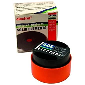 Electrol Collo Black Solid Element & Electrical Hotplate Hob Restorer Polish Protector