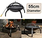 east2eden Black Steel 55cm Patio Heat...
