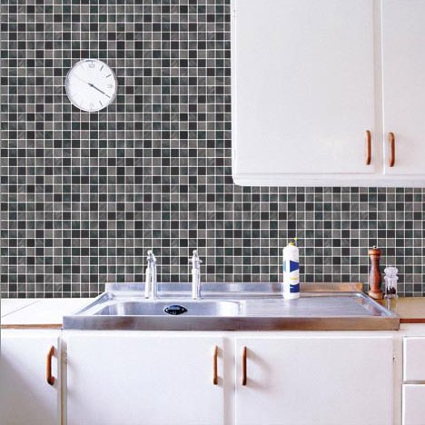Marca cl sica pegatina mosaico ba o 50cm 50cm pared del for Pegatinas azulejos cocina