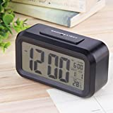 Alarm Clock LED Light Control Thermometer Snooze Electronic Digital Lot MC