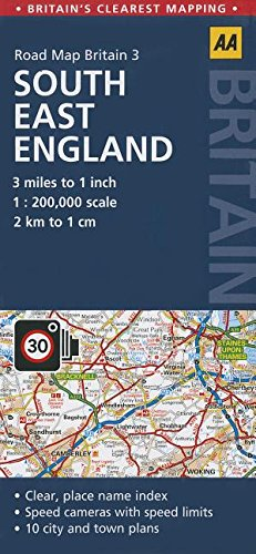 3. South East England: AA Road Map Britain