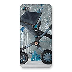Stylish Denim Baby Print Back Case Cover for Micromax Canvas Fire 4 A107
