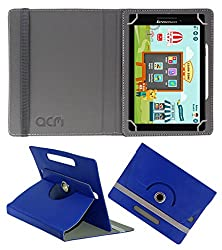 Acm Rotating 360° Leather Flip Case For Lenovo Cg Slate Grade 3-5 Tablet Cover Stand Dark Blue