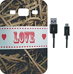 BKDT Marketing Beautifully Printed Back Cover for Samsung Galaxy A8 With Charging Cable