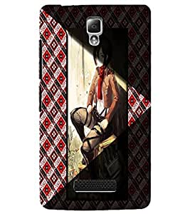 PrintDhaba Stylish Girl D-4967 Back Case Cover for LENOVO A2010 (Multi-Coloured)