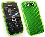 FLASH SUPERSTORE NOKIA E71 HEXAGON PATTERN GEL SKIN COVER/CASE GREEN