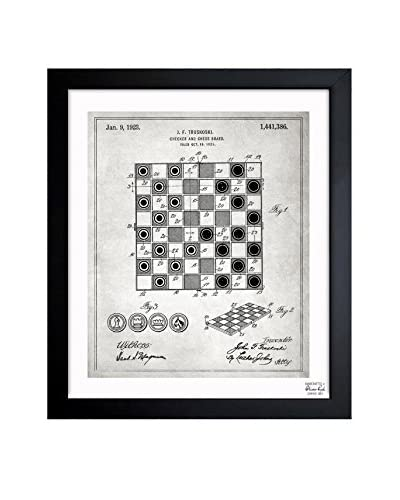 "Oliver Gal ""Checker And Chess Board 1923"" Framed Art"