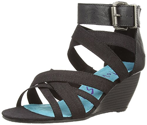 Blowfish Besilla, Sandali donna Multicolore Mehrfarbig (Black Linen) 39