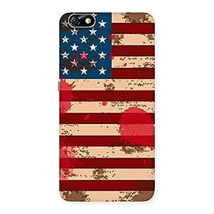 Grunge USA Flag Print Back Case Cover for Honor 4X