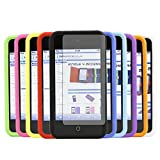 ITALKonline Apple iPod Touch 4 4G (4th Generation) 8GB, 32GB, 64GB SoftSkin 10 PACK PURPLE RED LIGHT BLUE GREEN DARK BLUE GREEN YELLOW BLACK WHITE ORANGE PINK Silicone Protective Armour Case Skin Cover Shell with 10 LCD Screen Protectors