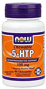 Now Foods 5-HTP Chewable Lozenges Tablets, 100 mg, 90 Count