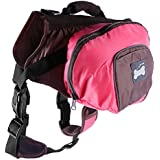 Imported Dog Foldable Backpack Waterproof Portable Travel Outdoor Bag Pack Pink S