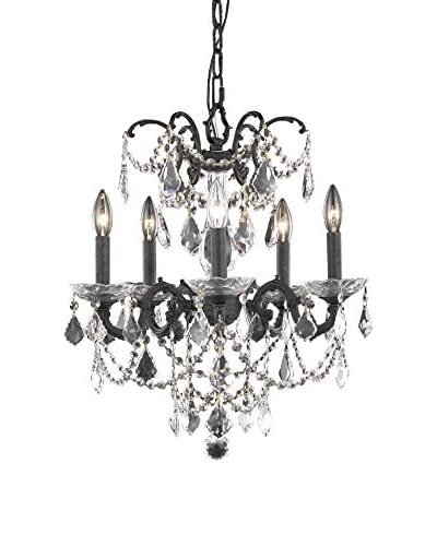 Crystal Lighting Athena 5-Light Hanging Fixture, Dark Bronze