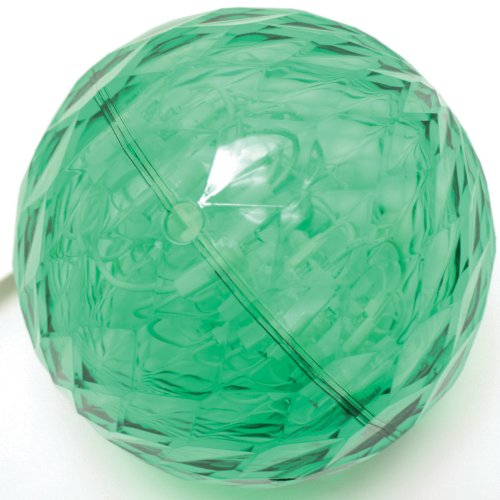 Good Tidings Holiday Led Crystal Sphere Light 6-Inch, Green