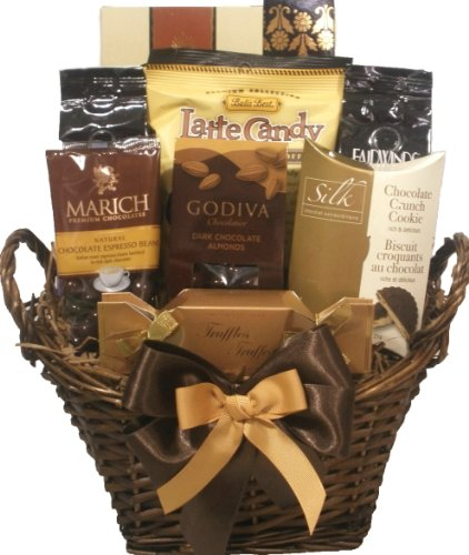 Delight Expressions? Coffee and Chocolate Lovers Gourmet Food Gift Basket - A Holiday Gift Basket Idea!
