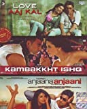 Love Aaj Kal/Kambakkht Ishq/Anjaana Anjaani (Hindi Film / Bollywood Movie / Indian Cinema 3 in 1 - 100% Orginal DVD Without Subtittle)