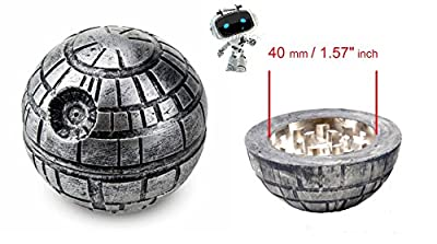 "Gimmick® Star Wars Death Star Weed Tobacco Spice Herb Grinder Aluminum 3 piece 55mm 2.1"" Inch Perfect Present With Free Gift Box by Gimmick®"