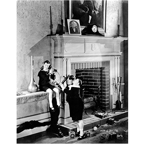 Laurel & Hardy 8x10 Photo Using Oversized Telephone Next to Giant Fireplace kn (Giant Fireplace compare prices)