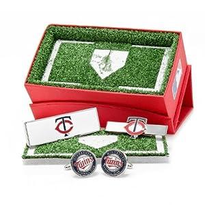 Minnesota Twins 3-Piece Gift Set by Cufflinks