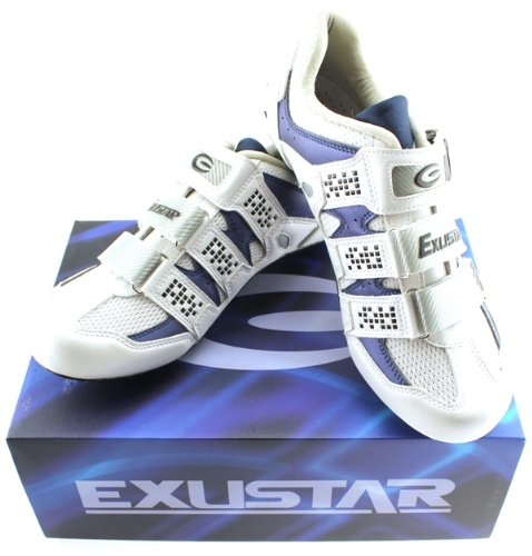 EXUSTAR E-SR232 Men's Road Bike Cycling Shoes Carbon and Titanium Mesh Sole sz 39 US MENS 6.5