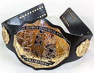 Fantasy Football Championship Belt Trophy Prize (Black/Gold)